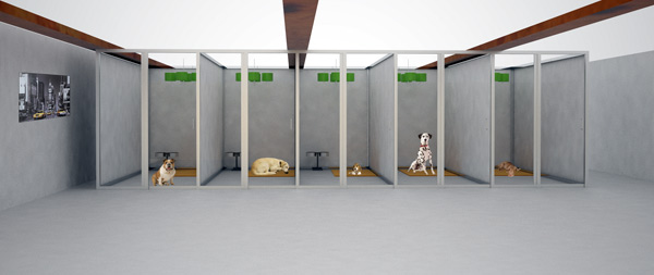un hotel de lujo para perros On diseño de un hotel para perros