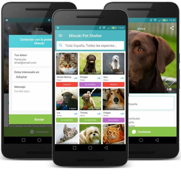 aplicación para adoptar perros